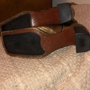 Alberto Fermani Shoes - Alberto Fermani Metallic Gold Leather Boots
